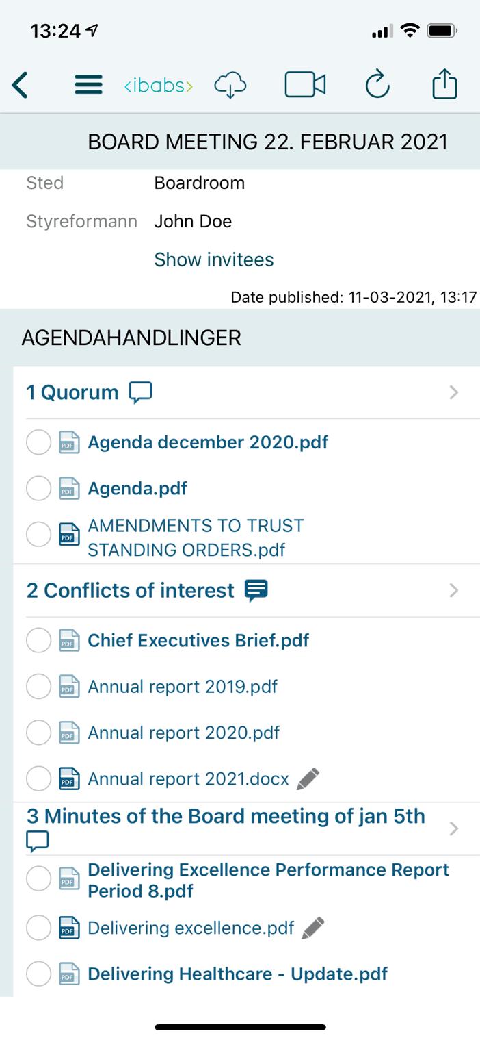 Få adgang til dagsordener og dokumenter overalt, døgnet rundt – selv offline