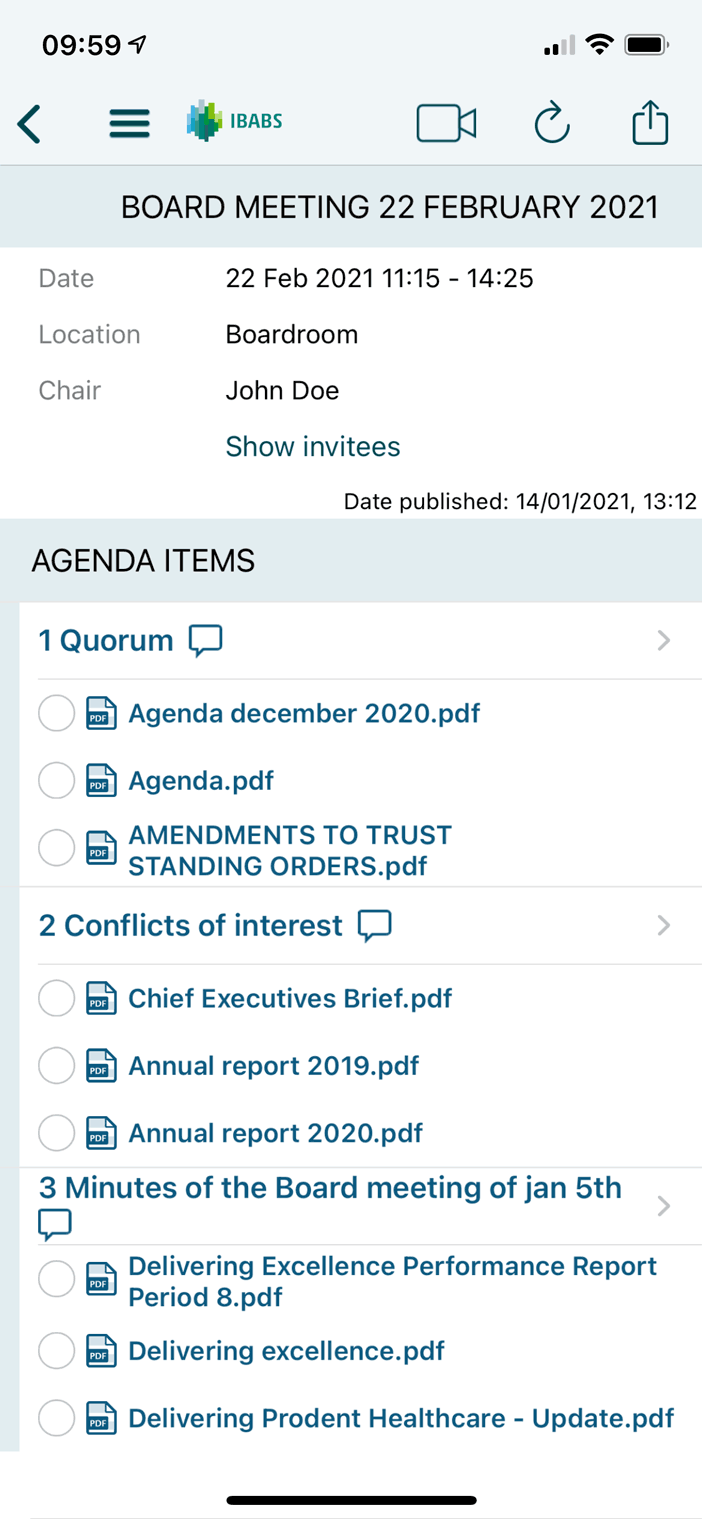 Access agendas and documents everywhere, 24/7 – even offline.
